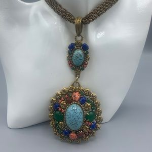 Stunning Vintage multi colored necklace